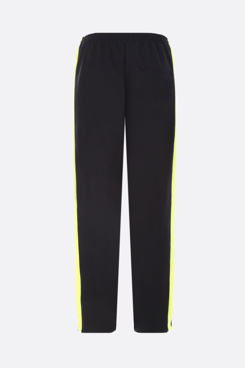 BALENCIAGA: jersey joggers with contrasting bands Color Black_3