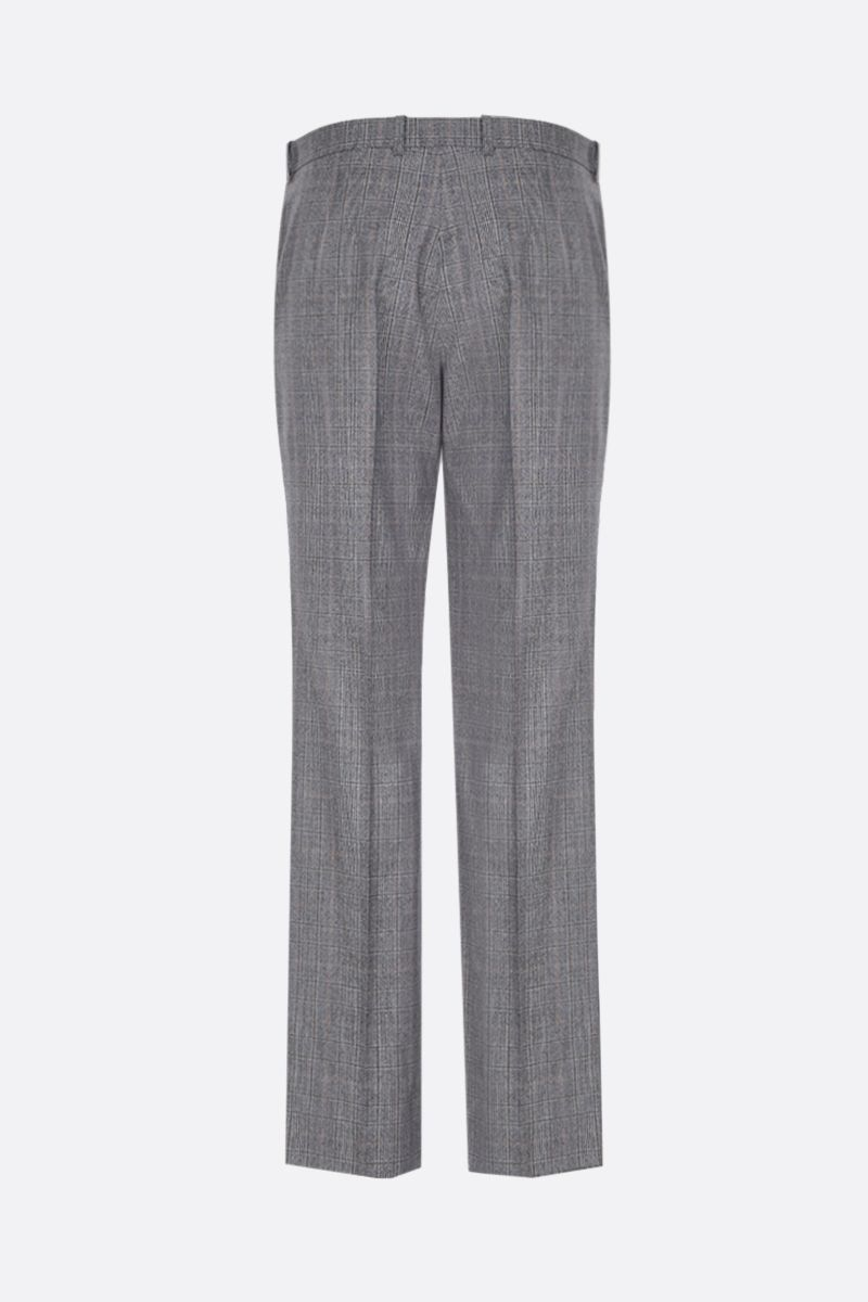 BALENCIAGA: prince of Wales wool straight-fit pants Color Multicolor_2