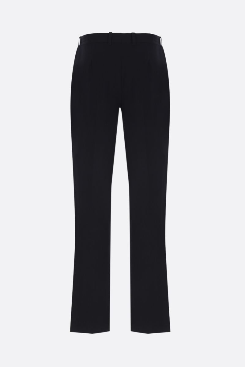BALENCIAGA: pantalone smoking in drill stretch Colore Nero_2