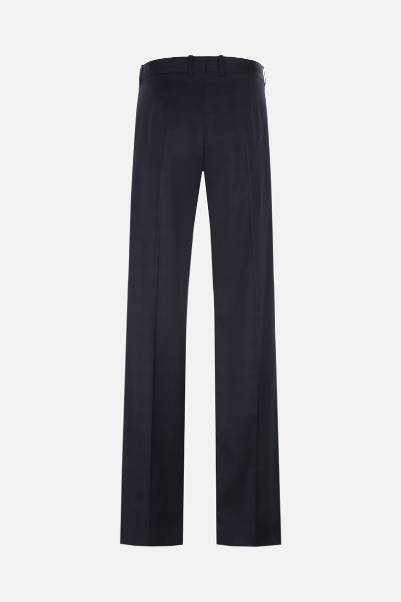 BALENCIAGA: pantalone straight-fit in lana a quadri Colore Blu_2