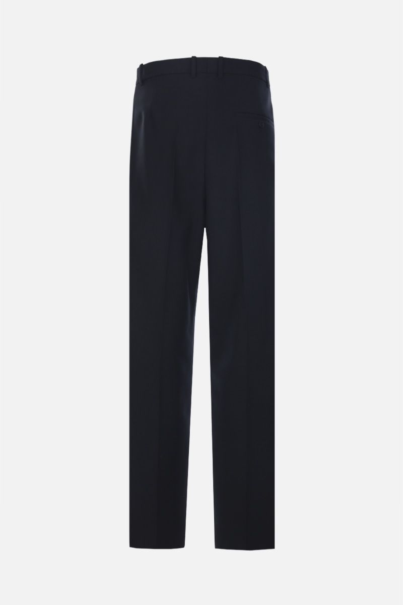BALENCIAGA: wool blend baggy-fit pants Color Black_2