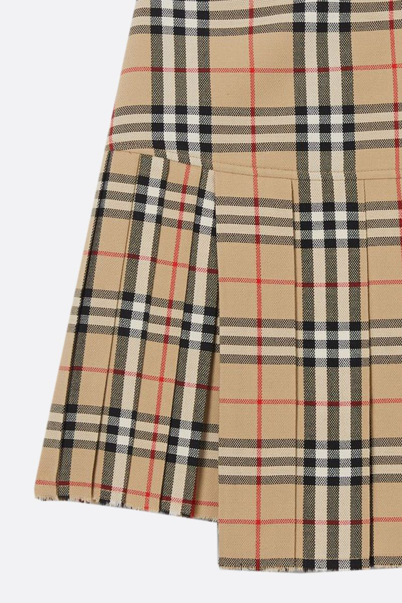BURBERRY: Vintage check wool pleated skirt_2