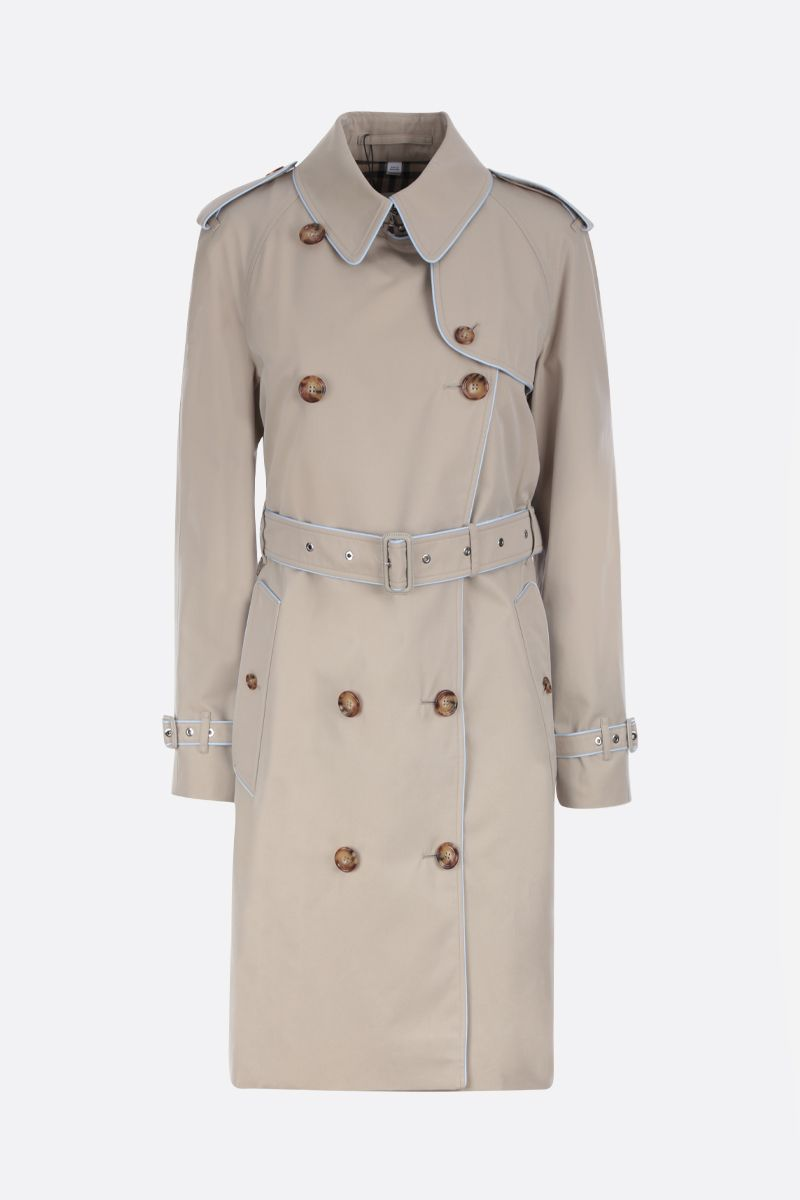 BURBERRY: Batley cotton double-breasted trench coat_1