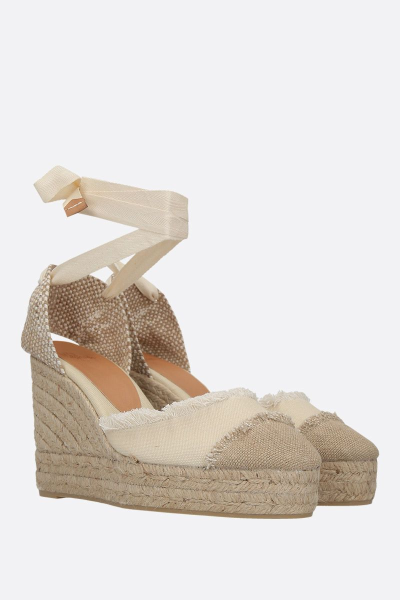 CASTANER: Catalina wedge espadrilles in canvas and jute Color White_2