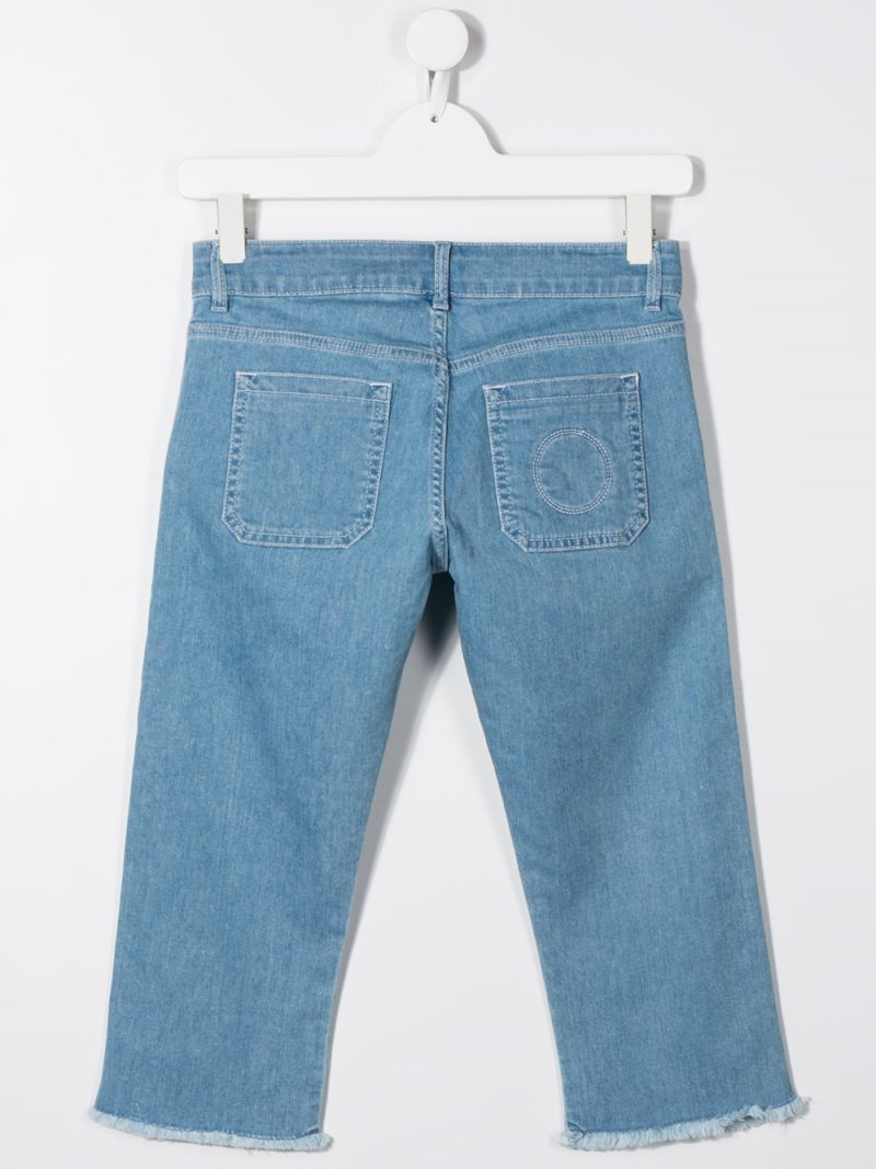 CHLOÈ KIDS: slim-fit jeans Color Blue_2