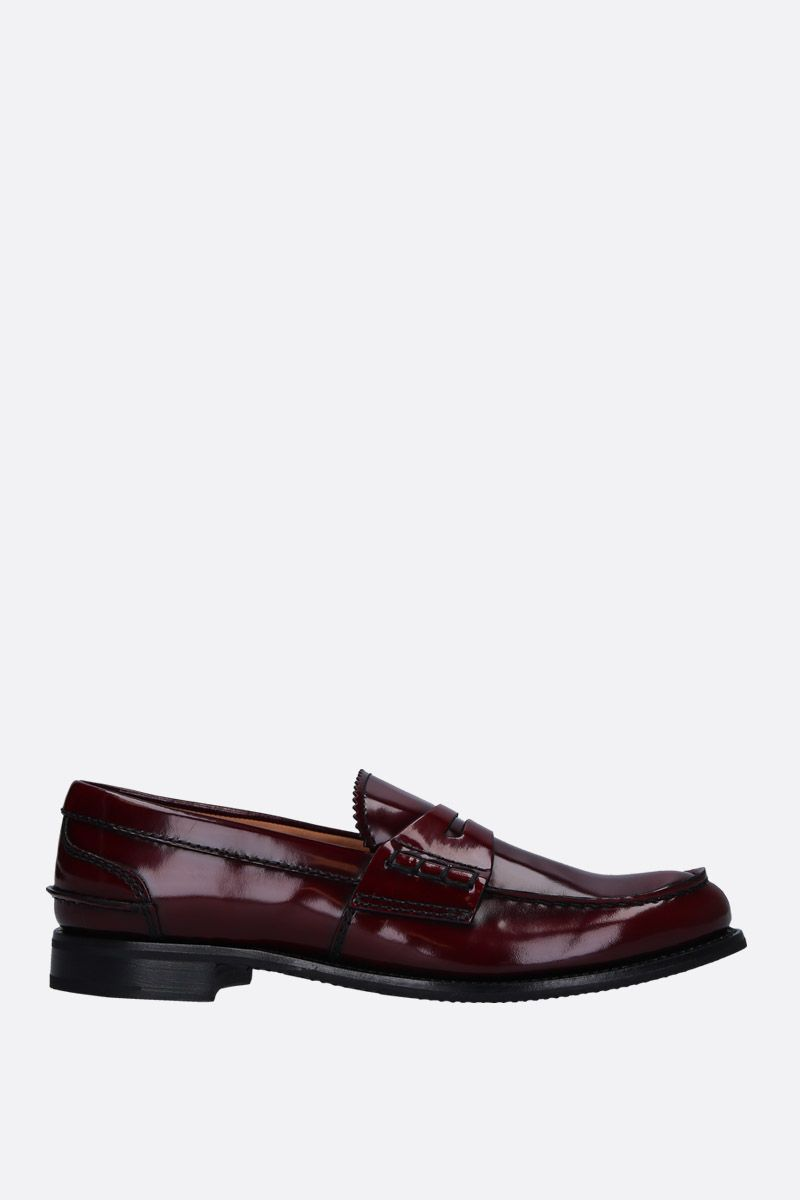 CHURCH'S: Pembrey loafers in shiny leather Color Red_1