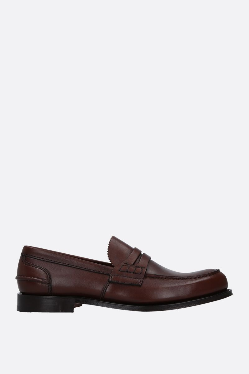 CHURCH'S: Pembrey loafers in Prestige leather Color Brown_1