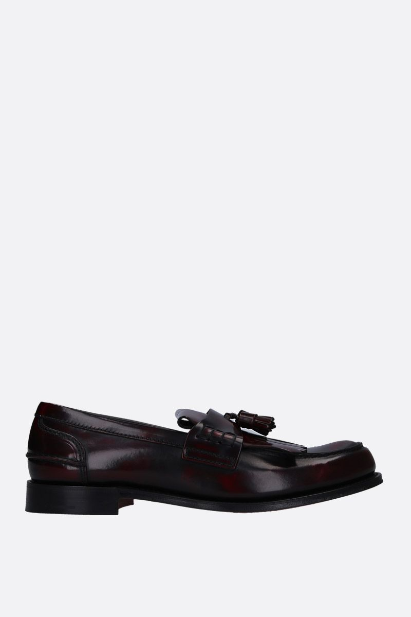 CHURCH'S: Oreham loafers in brushed calf Color Red_1