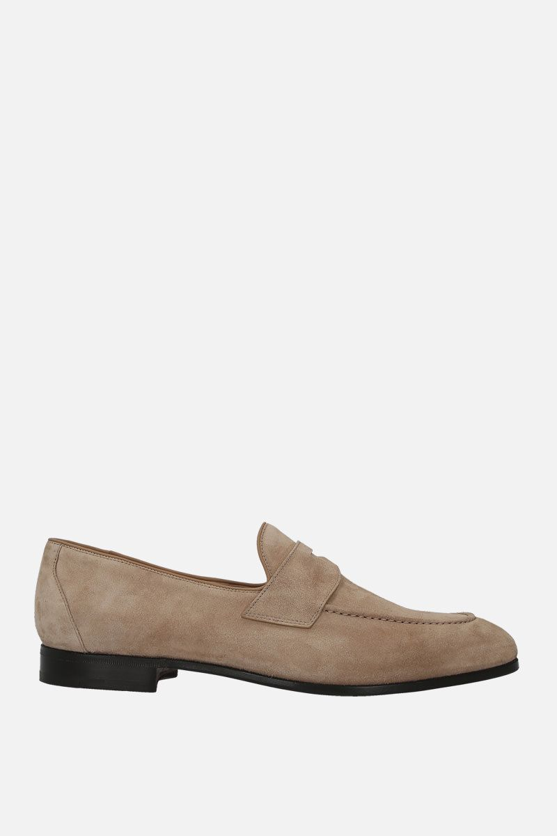 CHURCH'S: Dundridge suede loafers Color Neutral_1