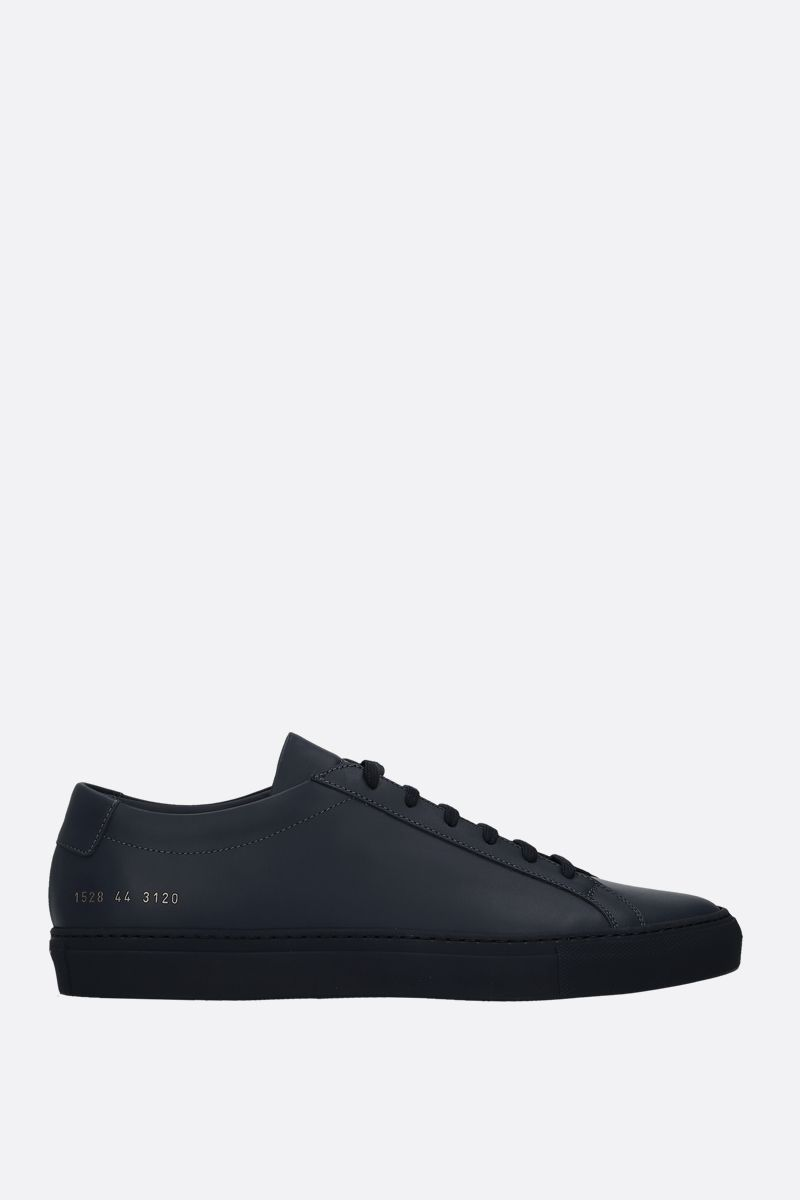 COMMON PROJECTS: Original Achilles sneakers in smooth leather Color Blue_1