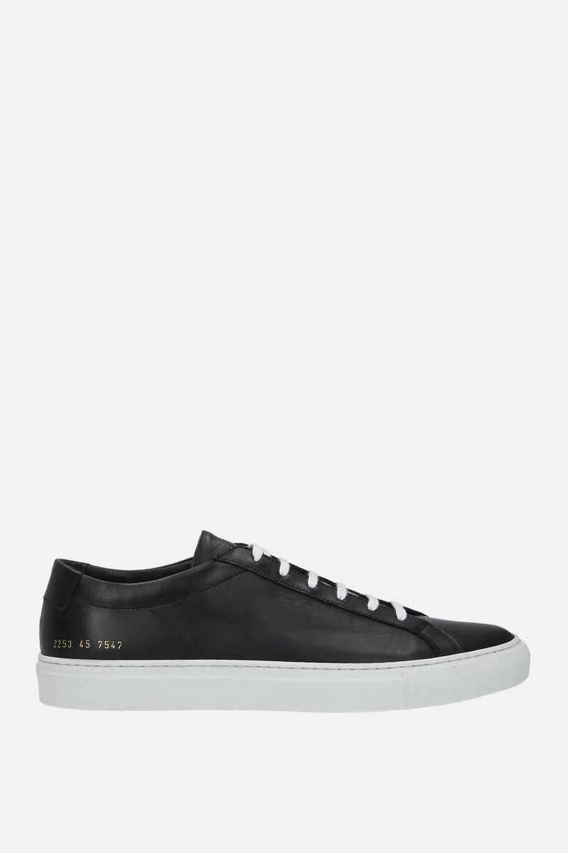 COMMON PROJECTS: Original Achilles sneakers in smooth leather Color Black_1