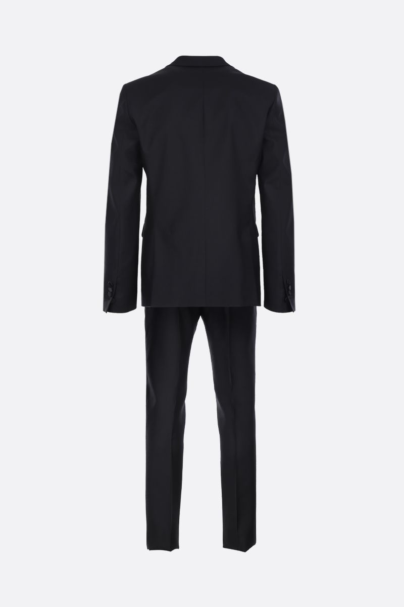 DSQUARED2: rhinestones-embellished wool silk blend two-piece suit Color Black_2
