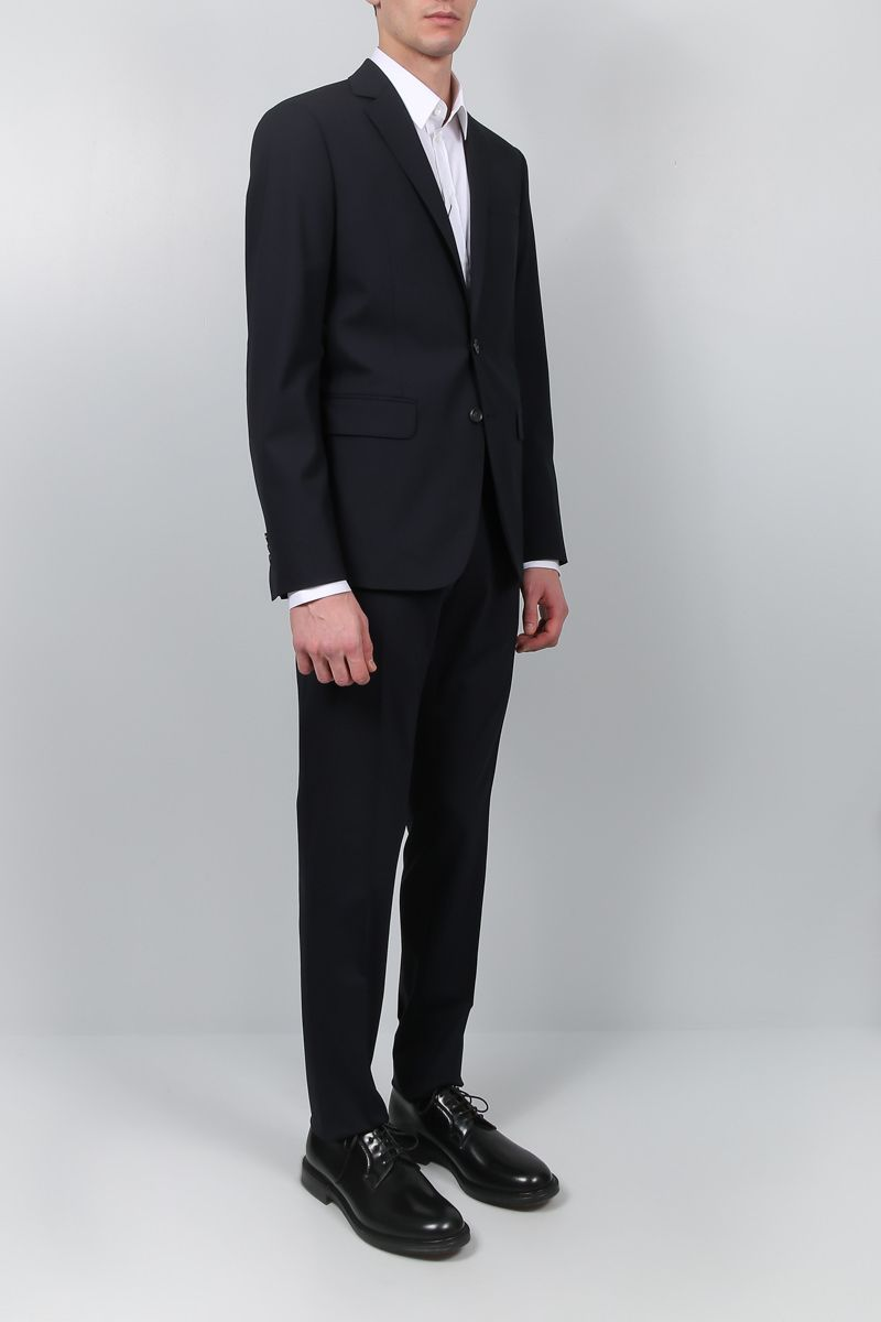 DSQUARED2: two-pieces suit in stretch wool Color Blue_2