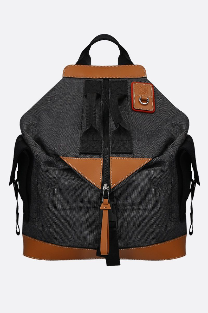 Eye/LOEWE/Nature: Eye/LOEWE/Nature convertible canvas backpack Color Black_1