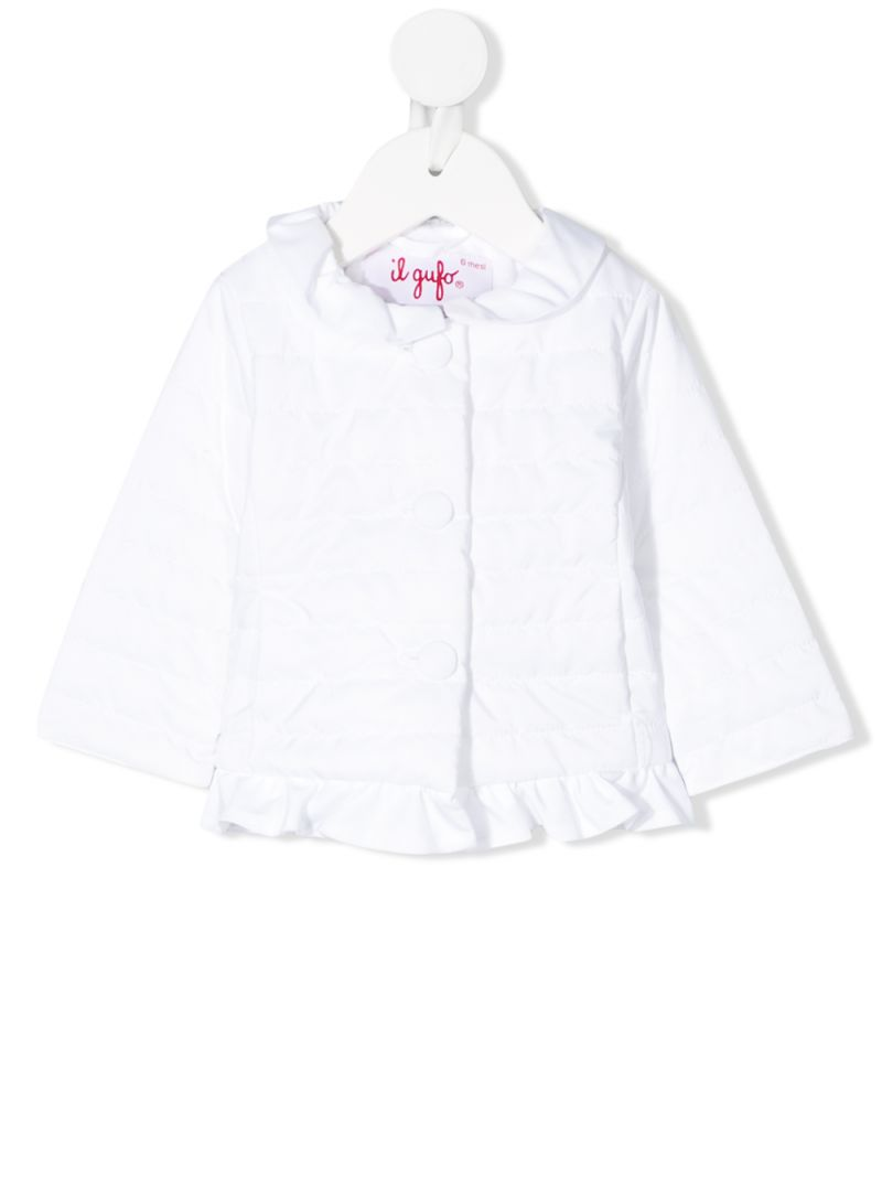 IL GUFO: nylon quilted jacket Color White_1