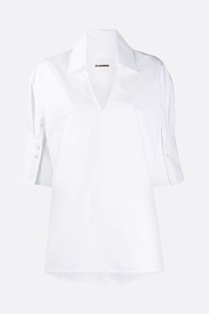 JIL SANDER: Magda cotton blouse Color White_1
