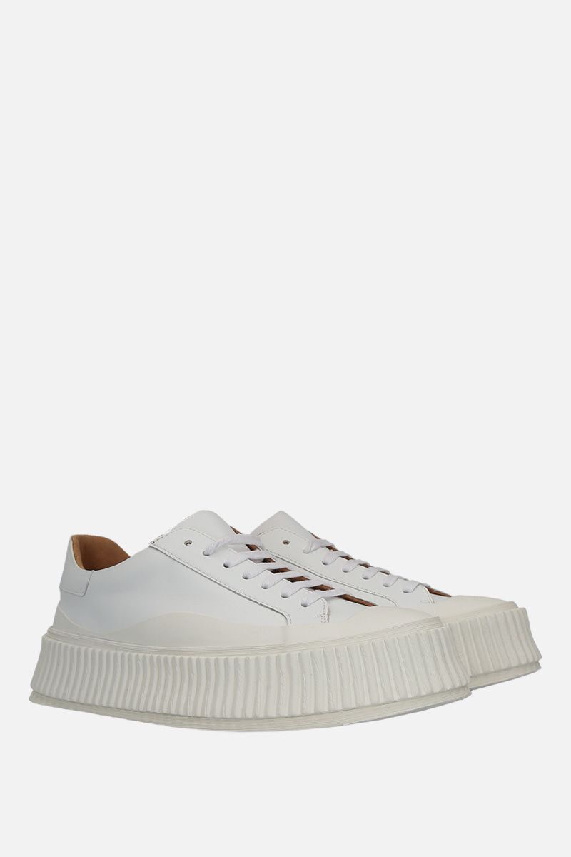 JIL SANDER: smooth leather and rubber low-top sneakers Color Multicolor_2