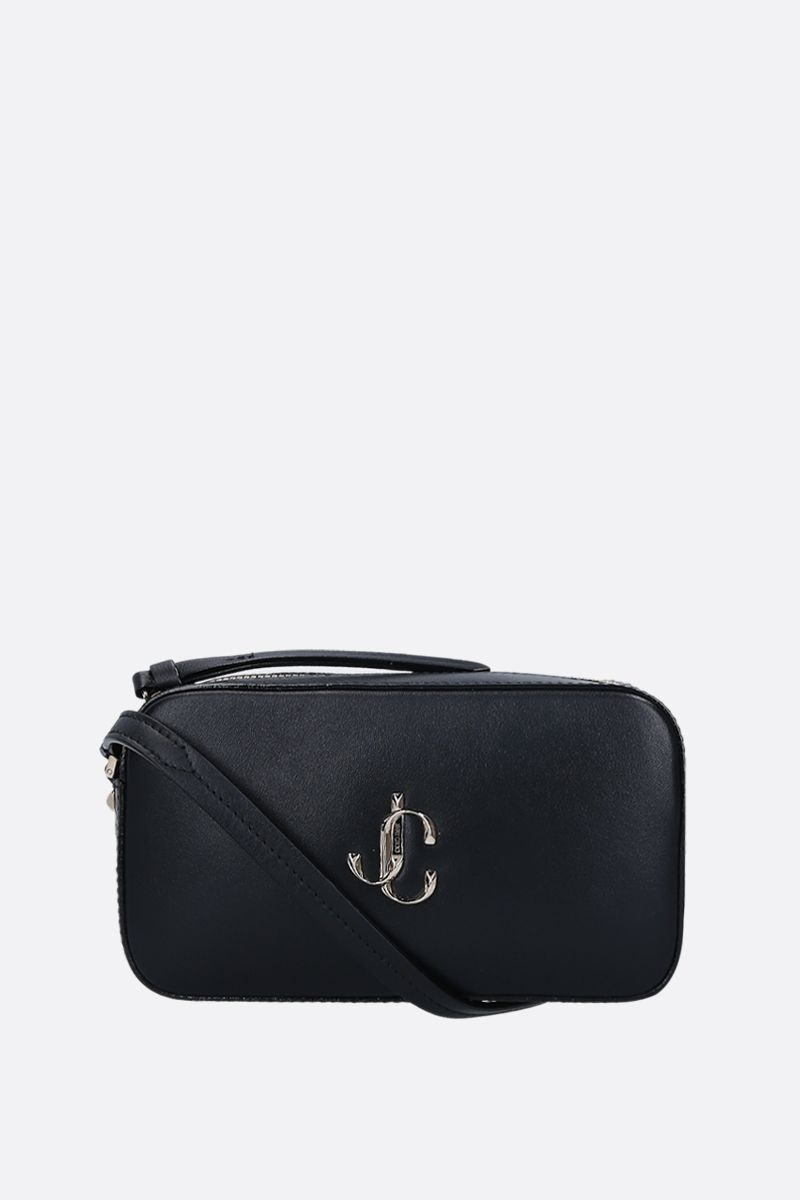 JIMMY CHOO: Hale crossbody bag in smooth leather Color Black_1