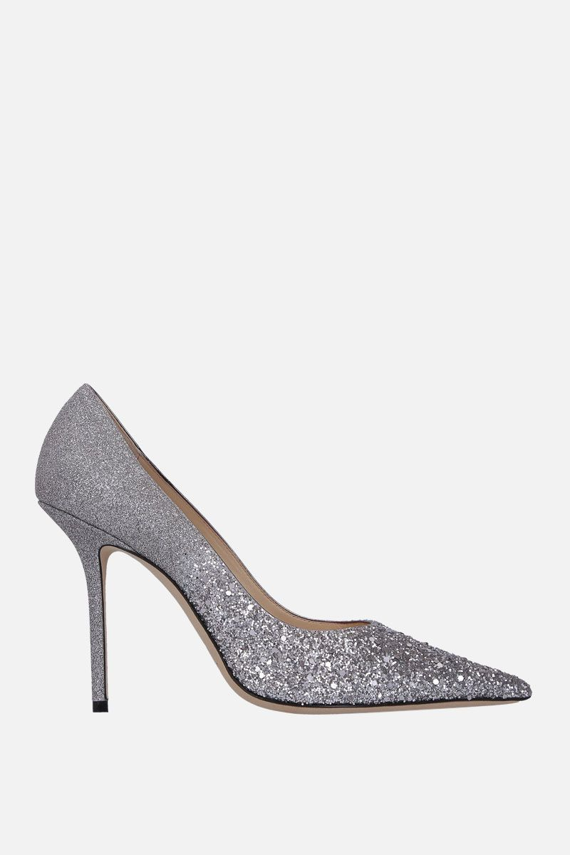 JIMMY CHOO: Love pumps in glitter fabric_1