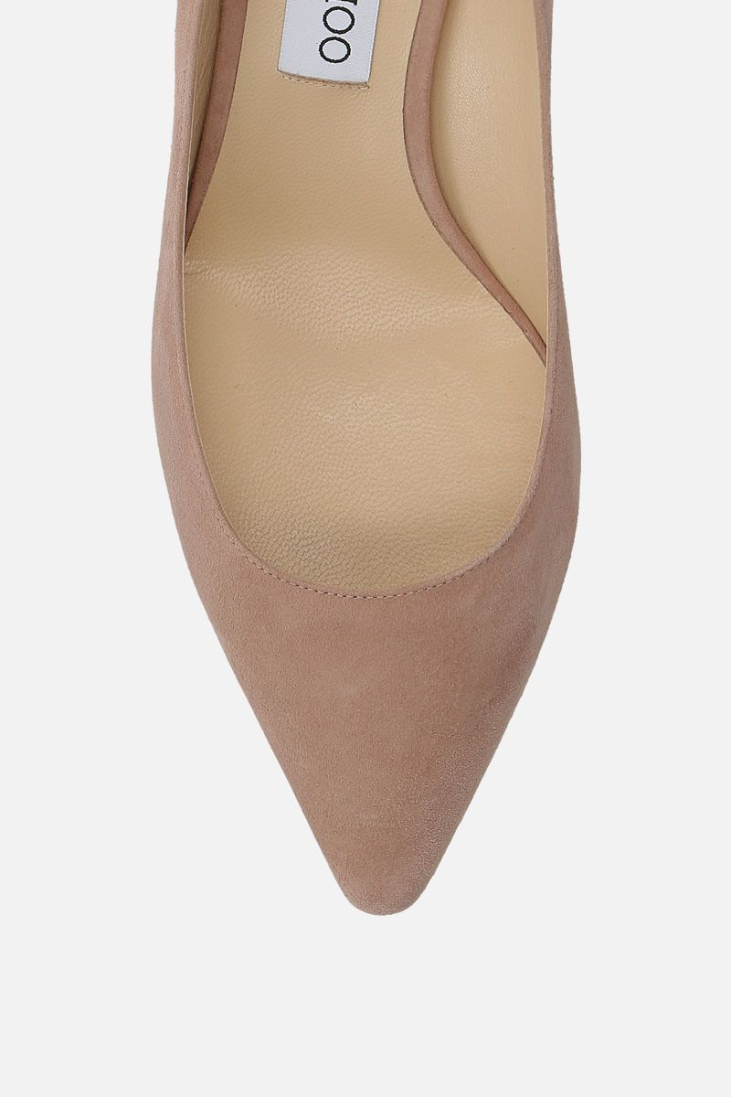 JIMMY CHOO: Romy suede pumps Color Pink_4