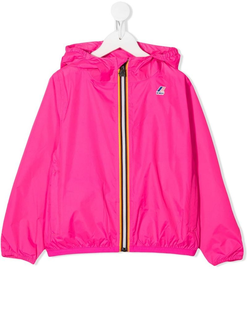 K-WAY KIDS: Le Vrai 3.0 Claude nylon windbreaker Color Pink_1