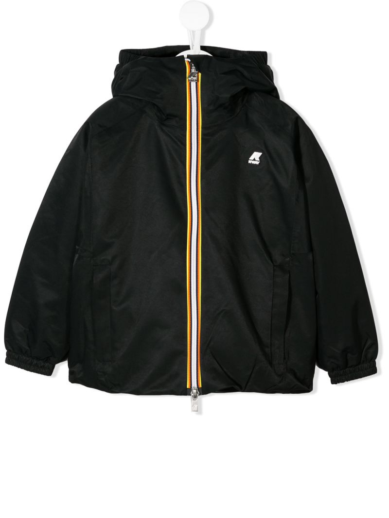 K-WAY KIDS: Marie nylon windbreaker Color Black_1