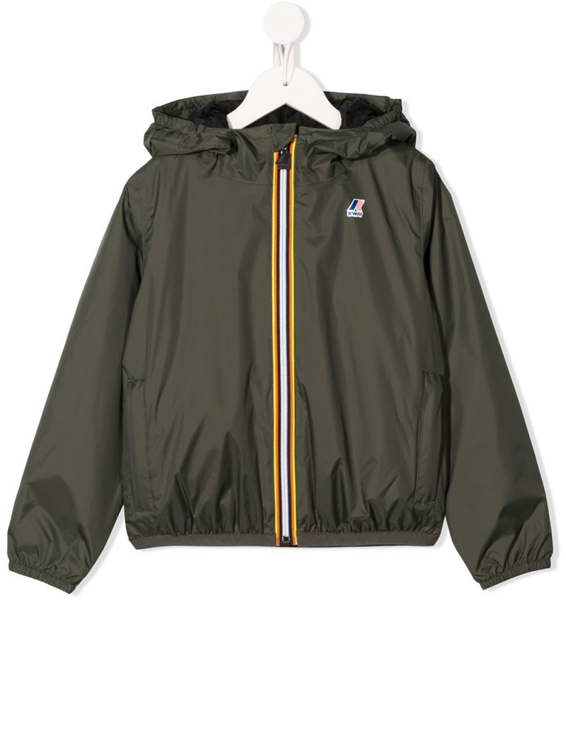 K-WAY KIDS: Le Vrai 3.0 Claude nylon windbreaker Color Multicolor_1