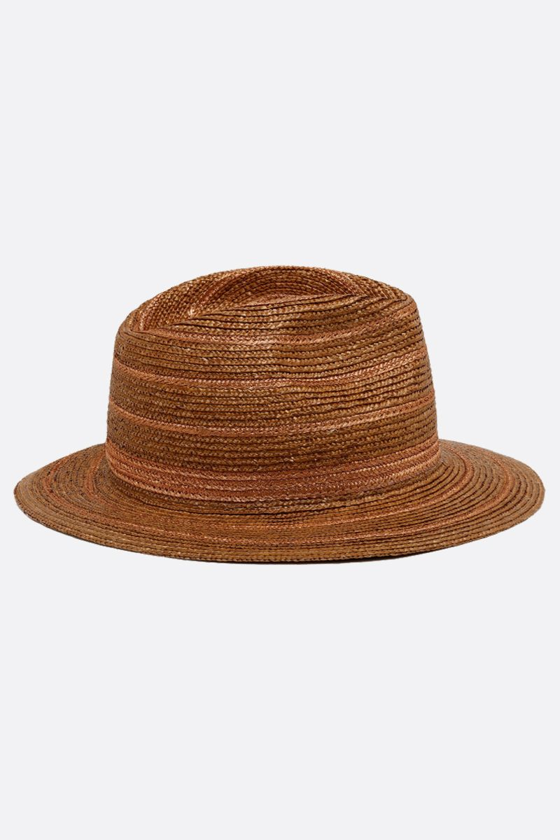 MAISON MICHEL: Rico roped straw fedora Color Neutral_2