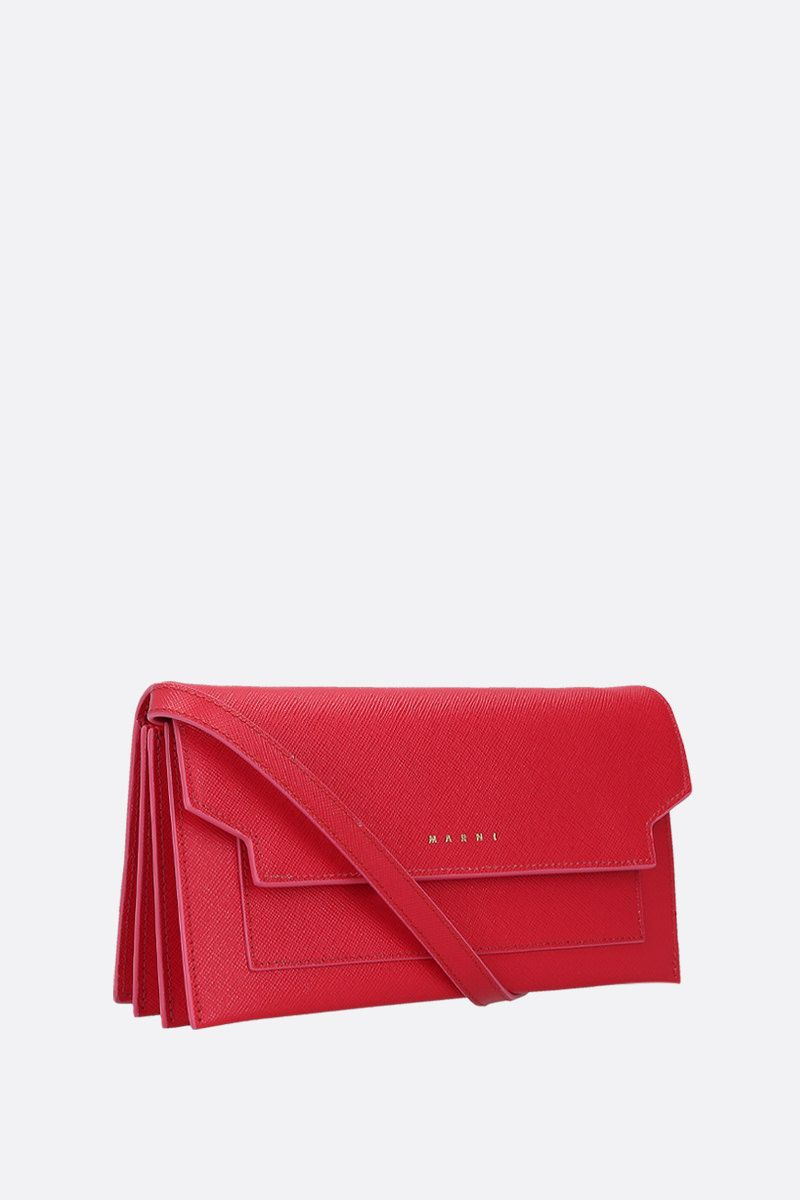 MARNI: saffiano leather strap wallet Color Red_2