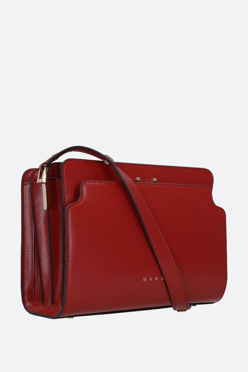 MARNI: Trunk medium shoulder bag in smooth leather Color Red_2