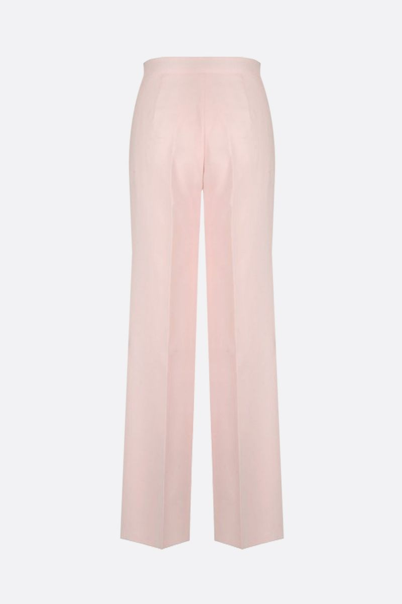 MAX MARA: Ovatta cotton wide-leg pants Color Pink_2