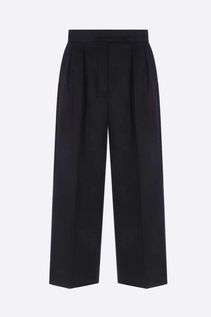 MAX MARA: Peplo cropped pants in camelwool Color Black_1