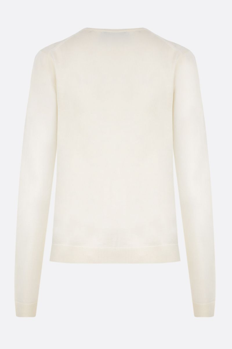 MILA SCHON: combed wool pullover Color White_2