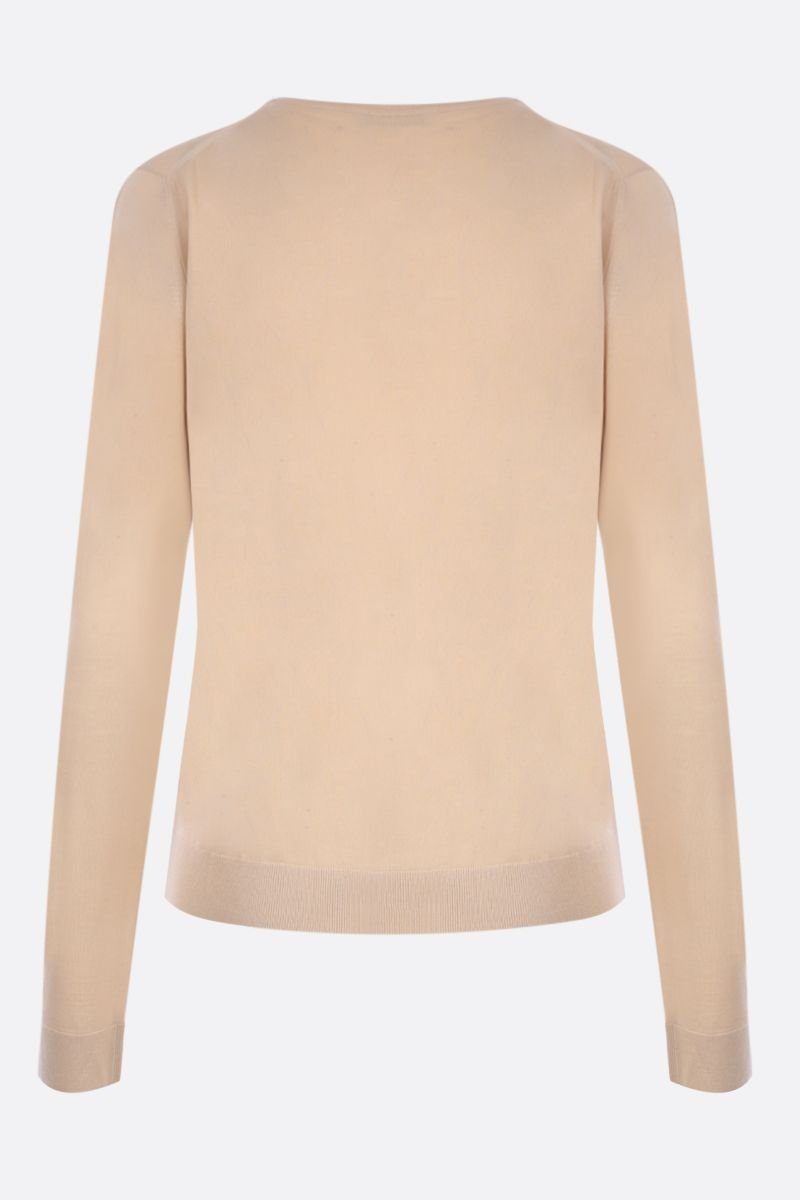 MILA SCHON: combed wool pullover Color Brown_2