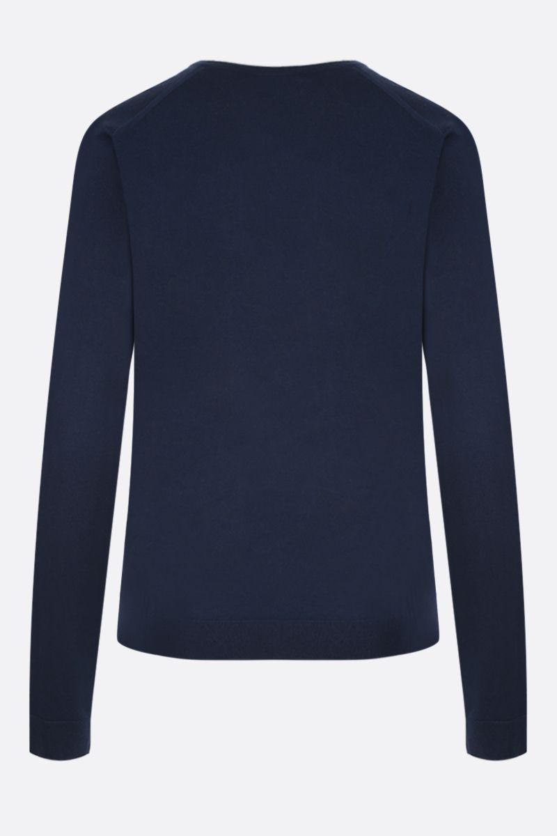 MILA SCHON: combed wool pullover Color Blue_2