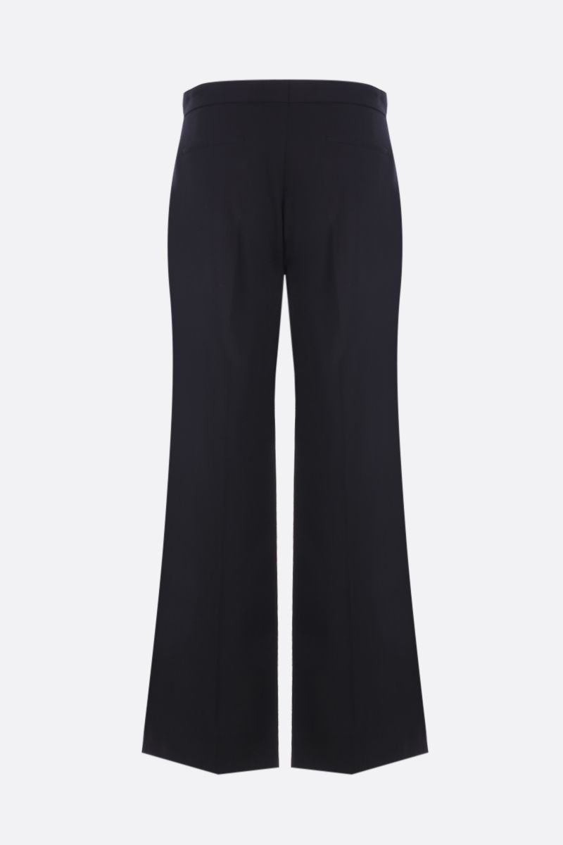 MIU MIU: stretch wool cropped pants with jeweled buckle Color Black_2