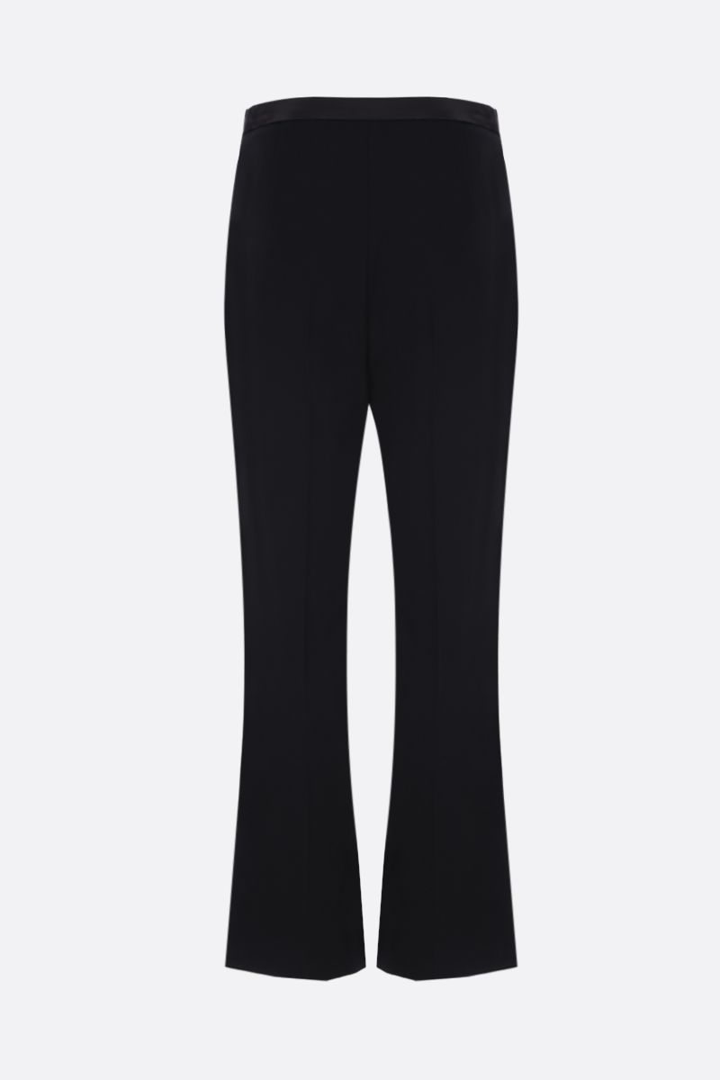 MIU MIU: cady cropped pants with bow detailing Color Black_2
