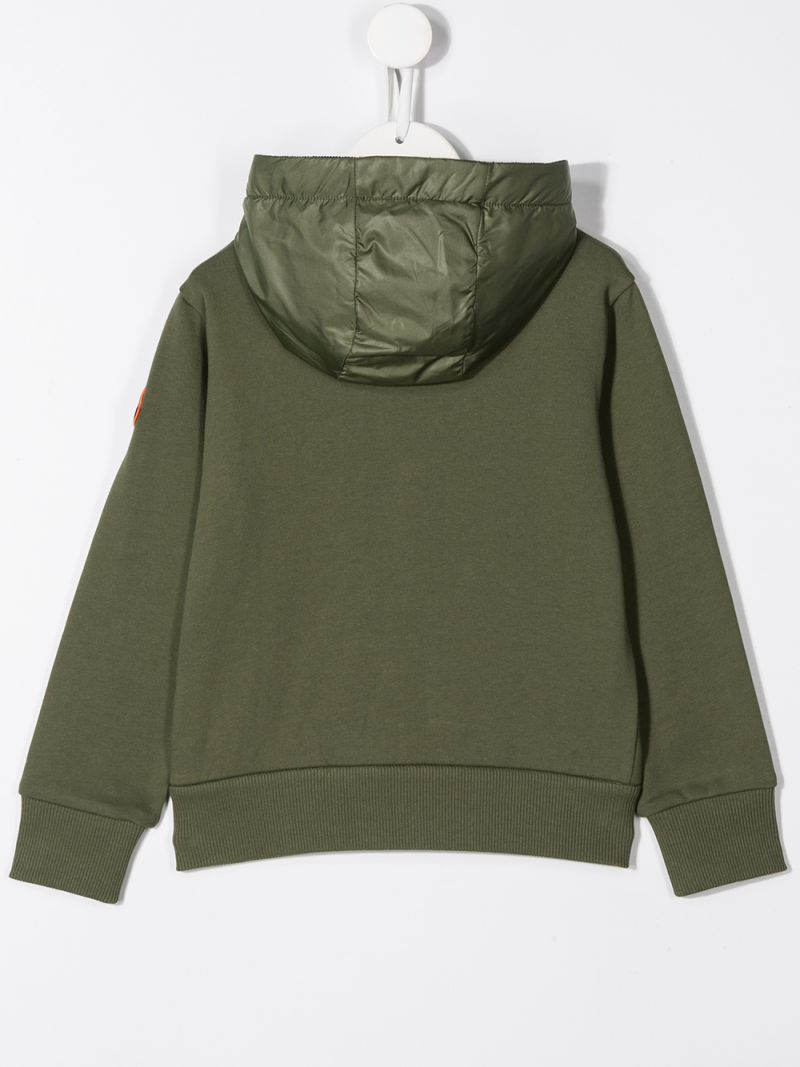 MONCLER KIDS: cotton full-zip hoodie Color Grey_2