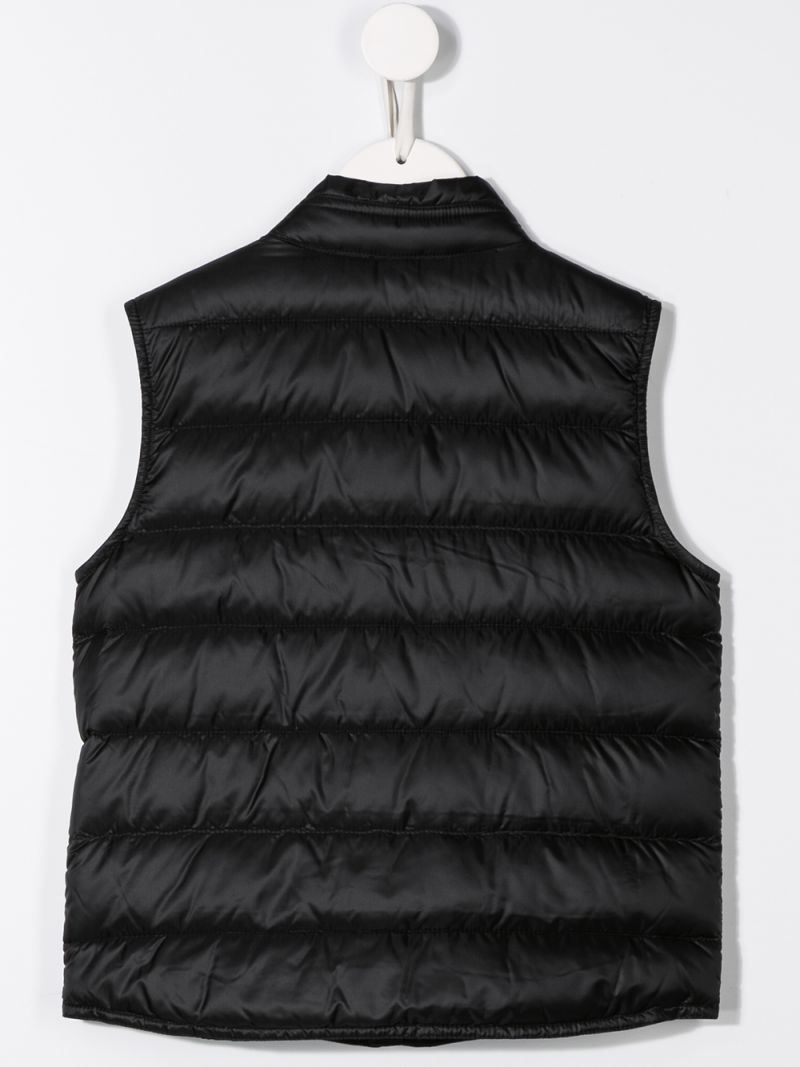 MONCLER KIDS: Gui sleeveless down jacket in nylon Color Black_2