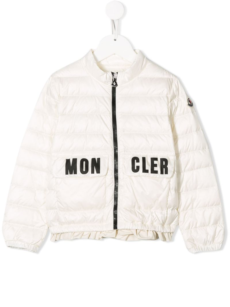 MONCLER KIDS: Violette down jacket in nylon Color White_1