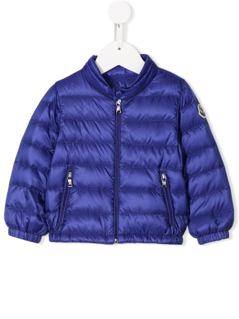 MONCLER KIDS: Acorus nylon down jacket Color Blue_1