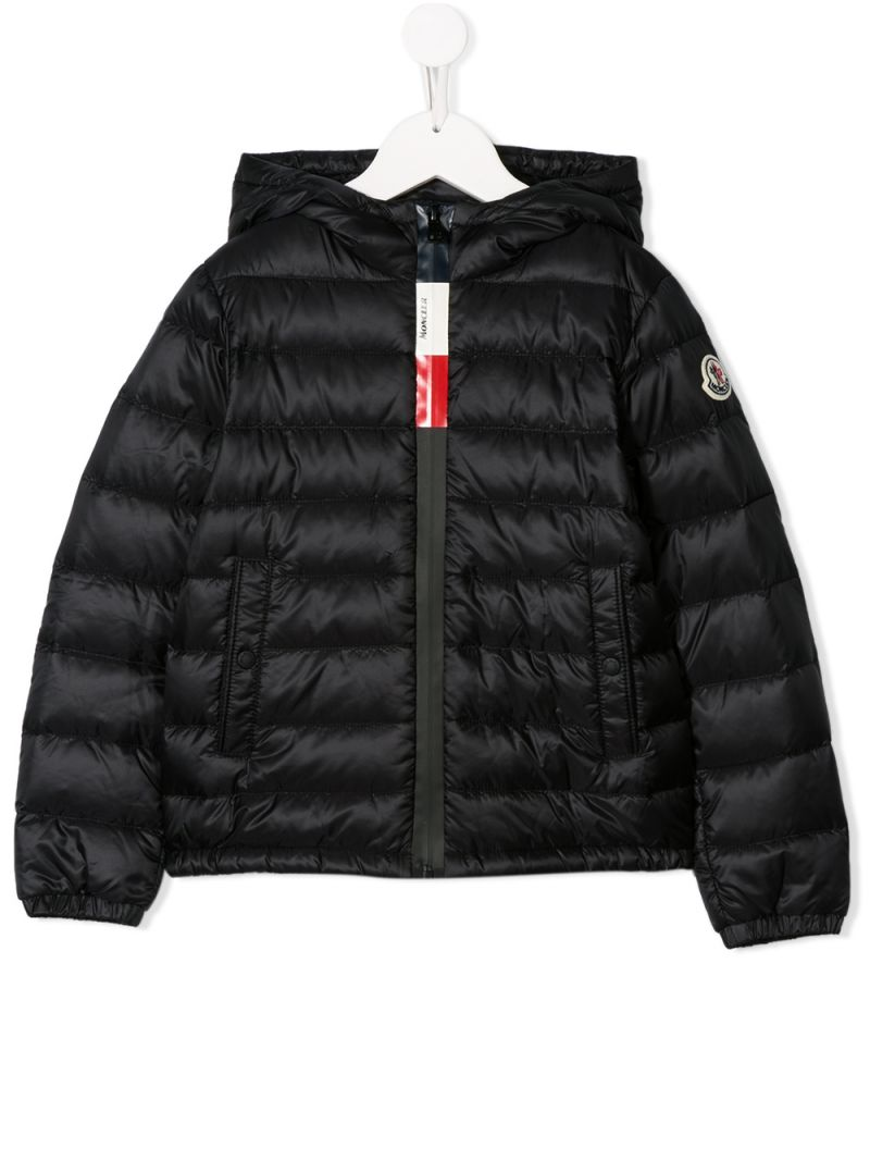 MONCLER KIDS: Rook down jacket in nylon Color Black_1