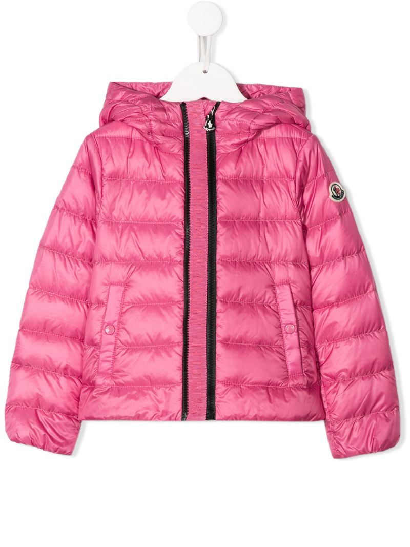 MONCLER KIDS: Glycine down jacket in nylon Color Pink_1
