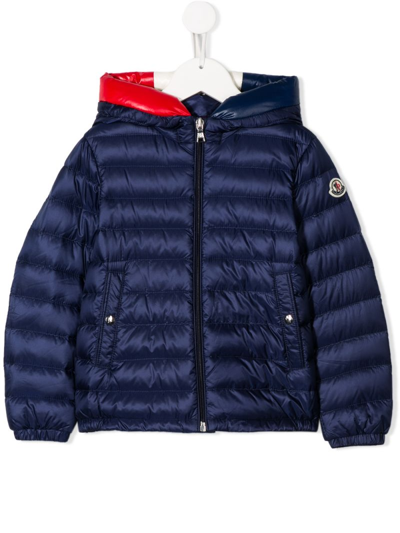 MONCLER KIDS: Sureau down jacket in nylon Color Blue_1