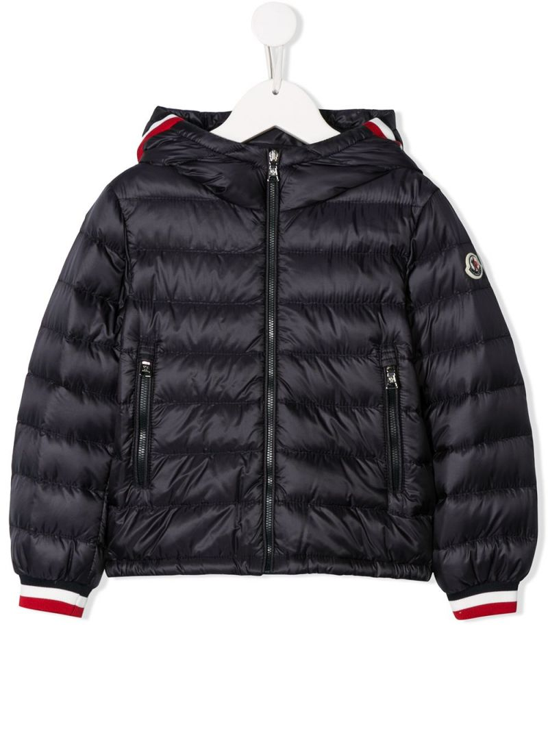 MONCLER KIDS: Giroux nylon down jacket Color Blue_1