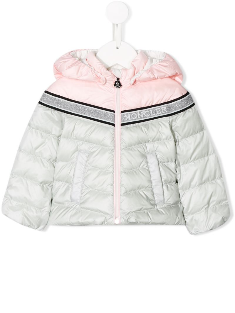 MONCLER KIDS: Marik down jacket in colour-block nylon Color Pink_1