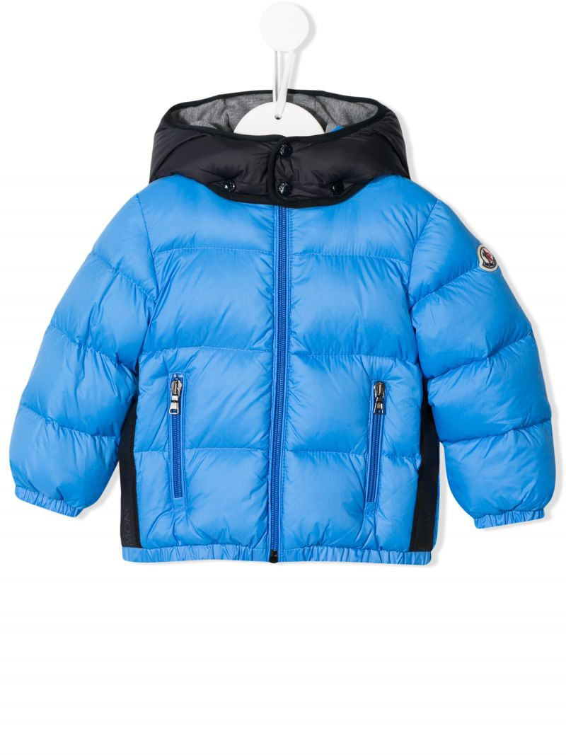 MONCLER KIDS: Perols down jacket in technical fabric Color Blue_1