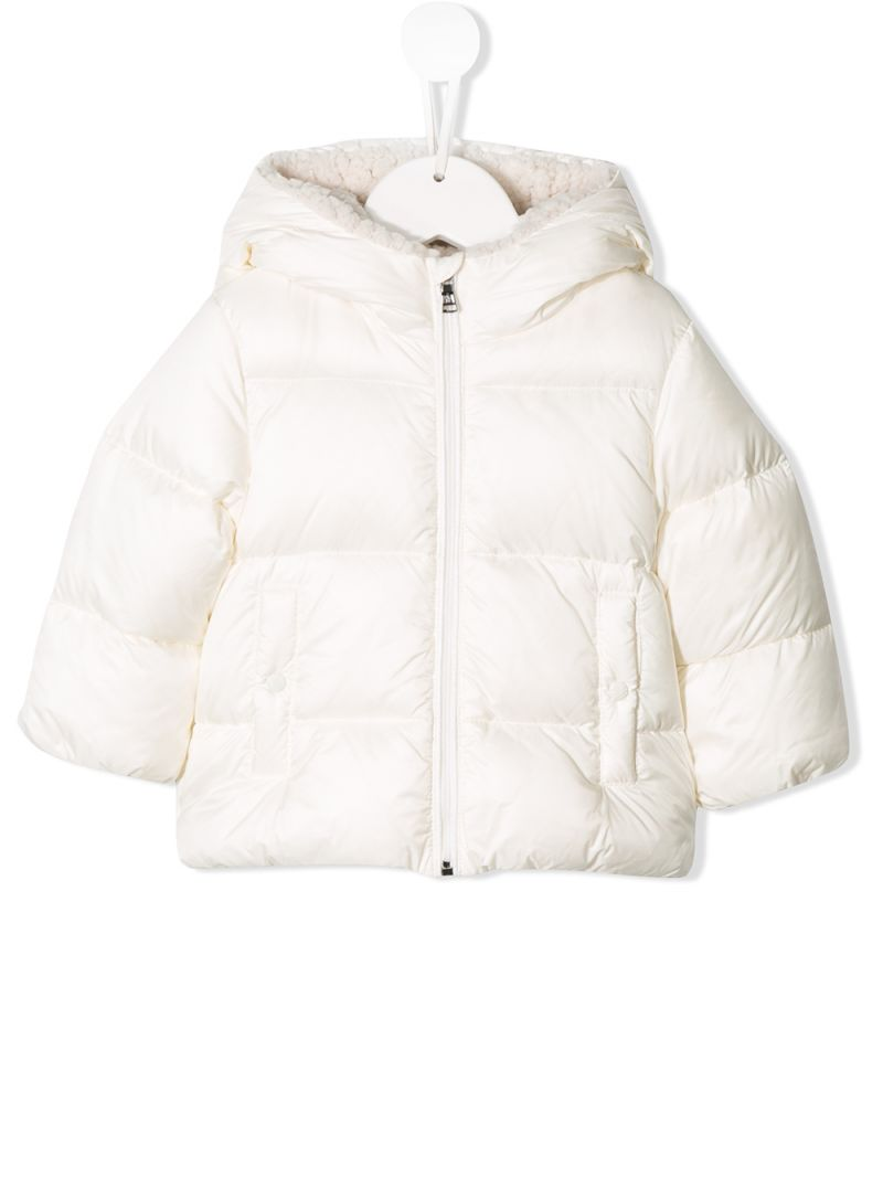 MONCLER KIDS: Quinson nylon down jacket Color Neutral_1