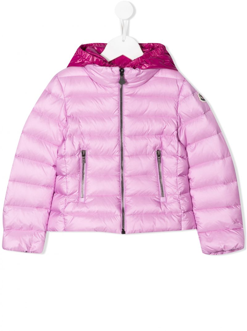 MONCLER KIDS: Landes nylon down jacket Color Pink_1