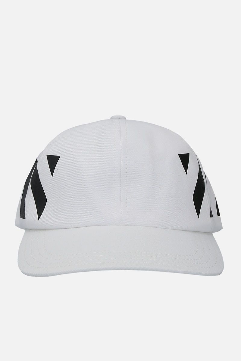 OFF WHITE: Diagonals baseball cap in gabardine Color Black_1